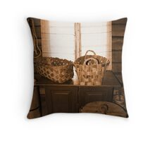 Old Baskets Throw Pillow
