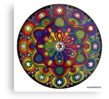 Mandala 42 Rainbow Prints, Cards & Posters Metal Print