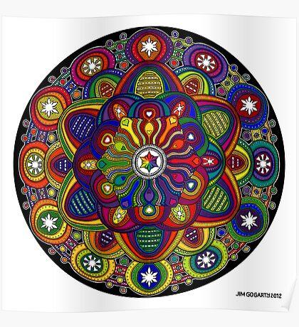 Mandala 42 Rainbow Prints, Cards & Posters Poster
