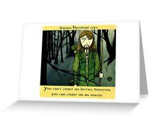Ranger Hrothgar Says - Abacus  Greeting Card