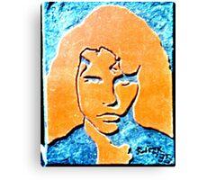 Orange and Black Jimmy Canvas Print