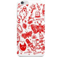 RED SPOOKY TATTOO FLASH SHEET iPhone Case/Skin
