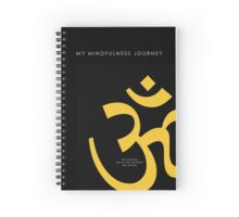 7 DAY'S OF SUMMER-YOGA ZEN RANGE-NAMASTE BLACK&GOLD NOTEBOOK Spiral Notebook