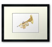 Hand Drawn Classic Trumpet Framed Print