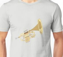 Hand Drawn Classic Trumpet Unisex T-Shirt