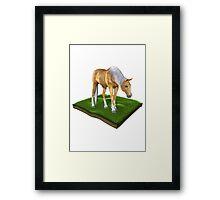 3D Horse Framed Print