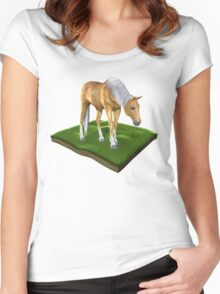 3D Horse Women's Fitted Scoop T-Shirt
