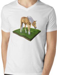 3D Horse Mens V-Neck T-Shirt