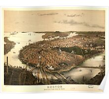 Panoramic Maps Boston bird's-eye view from the north Poster