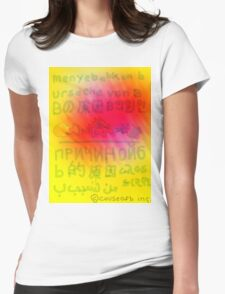 Worldwide Words Womens Fitted T-Shirt