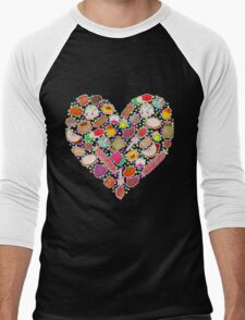 I Love Mexican Candy - Aquamarine Men's Baseball ¾ T-Shirt