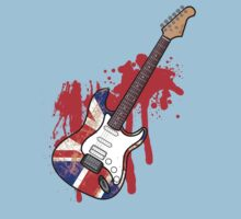 Grungey Union Flag Guitar [RED] by Styl0
