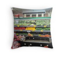 Feast Your Eyes! on local produce Bellingen Market, N.S.Wales. Throw Pillow