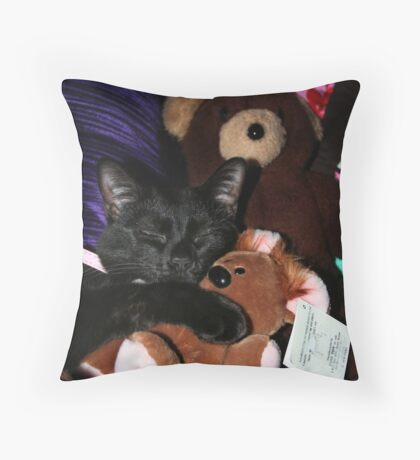 Pooky and Me Throw Pillow