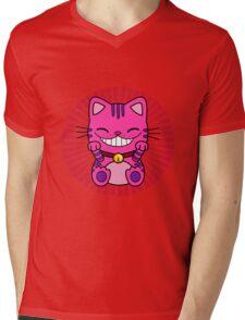 maneki cheshire Mens V-Neck T-Shirt