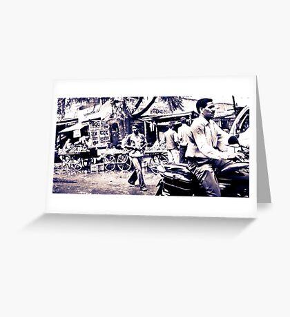 india street scene Greeting Card
