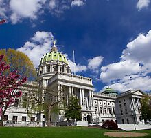 Pennsylvania State Capitol on Beautiful Spring Day by Mark Van Scyoc
