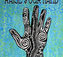 Raise Your Hand Mehndi Painting by GroovyGal