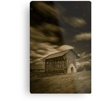 Shrine at Night (simulated) Metal Print
