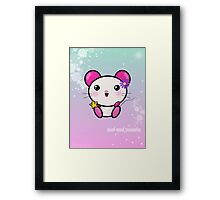 Kawaii Mouse Mei! Framed Print