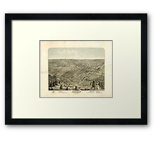 Panoramic Maps The city of Denison Grayson Co Texas 1876 Framed Print