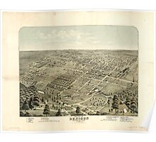 Panoramic Maps The city of Denison Grayson Co Texas 1876 Poster