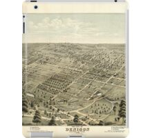 Panoramic Maps The city of Denison Grayson Co Texas 1876 iPad Case/Skin