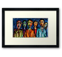 A night at the movies Framed Print