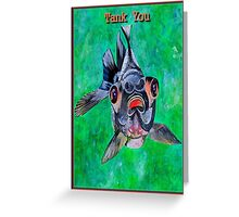 Tank You Greeting Card