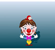Funny clown with big smile Photographic Print