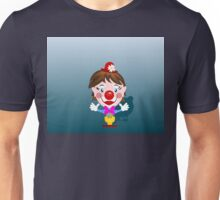 Funny clown with big smile Unisex T-Shirt