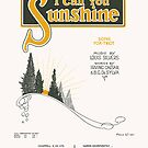 I CALL YOU SUNSHINE (vintage illustration) by ART INSPIRED BY MUSIC