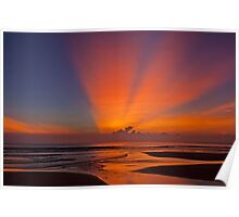 Sunrise On The South China Sea. Poster