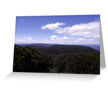 View from Lookout Tower at Mount Donna Buang Greeting Card