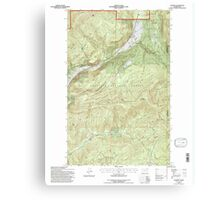 USGS Topo Map Washington State WA Aladdin 239775 1992 24000 Canvas Print