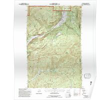 USGS Topo Map Washington State WA Aladdin 239775 1992 24000 Poster
