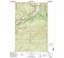 USGS Topo Map Washington State WA Aladdin 239775 1992 24000 Photographic Print