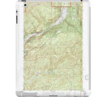 USGS Topo Map Washington State WA Aladdin 239775 1992 24000 iPad Case/Skin