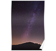 Milky way over Campitelli, Abruzzo, Italy Poster