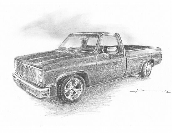Sweet truck drawing by Mike Theuer