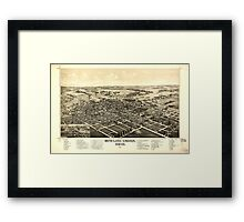 Panoramic Maps Bowling Green Ohio 1888 Framed Print