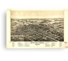 Panoramic Maps Bowling Green Ohio 1888 Canvas Print