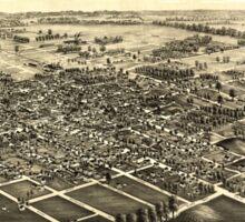 Panoramic Maps Bowling Green Ohio 1888 Sticker