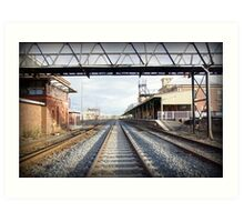 Albury train station vanishing point Art Print