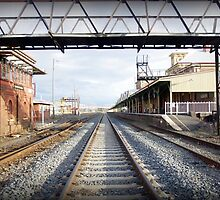 Albury train station vanishing point by Ike Faithfull