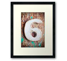 Number VI s2 Framed Print