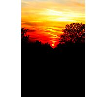 Red sunset vertical Photographic Print