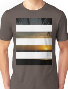 4 Strip Sunset Unisex T-Shirt
