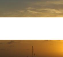 4 Strip Sunset Sticker