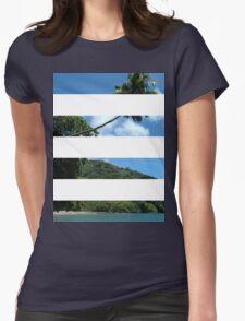 4 Strip Beach Womens Fitted T-Shirt